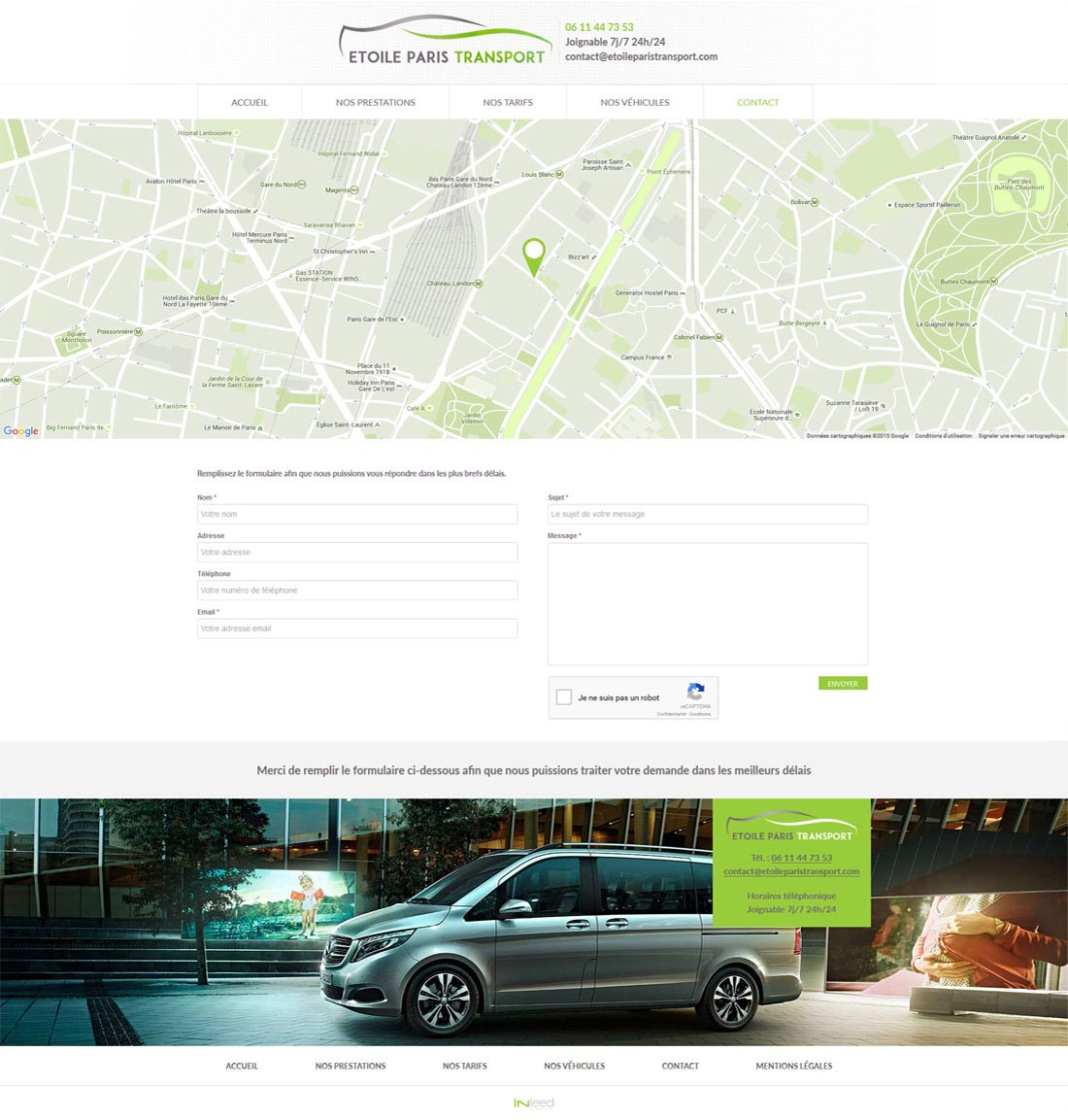 Transport de personnes page contact